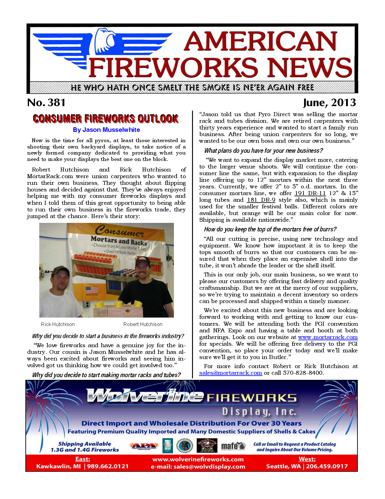 S1E Sample - American Fireworks News digital subscription (6 month sample)